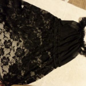 Black lace teddy size xl
